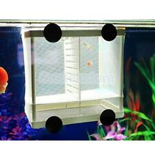 Aquarium Fish Breeding Net Separation Box Tank Fry Baby Trap Hatchery Size S/L