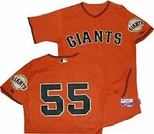 New San Francisco Giants Tim Lincecum Authentic Cool Base Orange Jersey A6300