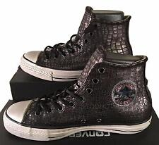 Converse X John Varvatos Black Leather Sneakers Silver Scales 145390C