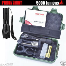 X800 Flashlight CREE XM-L T6 LED Zoomable Military Torch ShadowHawk + Battery UK