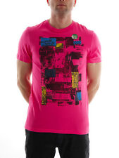 Hurley T-Shirt Top Tee Basic pink Crew Neck Slim Fit Photo