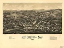 Photo Reprint Antique American Cities Towns States Map East Pepperell Mass