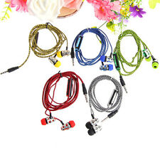 In-Ear Braided Earphones Headphones Headset Mic For iPhone Samsung Sony LG 3.5mm