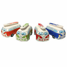 Hand Painted Kids VW Campervan Ceramic Money Box - Novelty Gift Idea