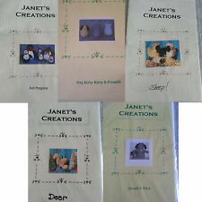 NEW Janet's Creations Sewing Craft Patterns Choose Penquins dog cat