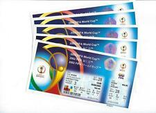 FIFA 2002 World Cup KOREA and JAPAN Matches 24 thru 33 Unused Tickets