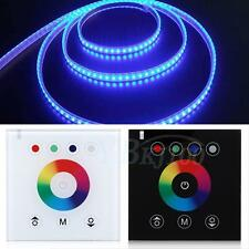 New White RGB Touch Switch Panel Dimmer Controller For DC12V LED strip Lights