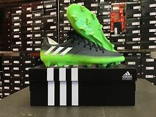 ADIDAS MESSI 16.1 FG SOCCER CLEATS DARK GREY/SILVER/SLIME GREEN SIZE: 6.5-13.5