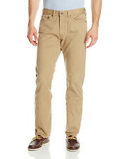 DOCKERS Straight Fit 5-Pocket Pincord Pants Beige Khaki Cotton  $60