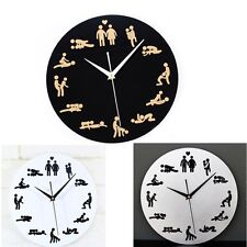 Wall Clock Fun Boudoir Home Decor Creative Modern Design Art Watch Silent Time