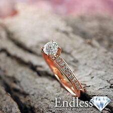 Natural Diamond Engagement Ring 14k Gold Jewelry 1.03 CT VS/F-G Size 5 Enhanced
