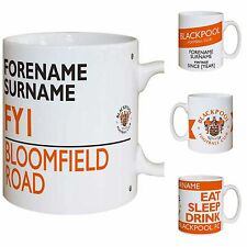 Personalised Official Blackpool Football Club FC Mugs Gifts for Fans Souvenirs