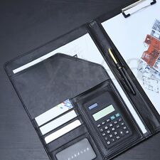 PU Leather A4 Document Organiser Conference Portfolio With Folder & Calculator