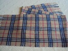 AUTHENTIC BURBERRY TRADITIONAL CHECK WOOL SCARF / SHAWL (VINTAGE)