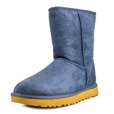 Ugg Australia Classic Short II Women  Round Toe Suede Blue Winter Boot