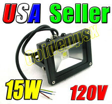 110V AC 15W Cool Pure White LED Wall Wash Flood Garden Light Outdoor Waterproof