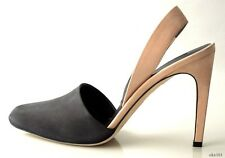 new $625 CALVIN KLEIN Collection black/beige D'Orsay shoes pumps Italy - CLASSY