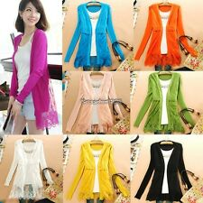New Fashion Women's Lady Girl Candy Colors Lace Knit Blouse Top Coat ED01