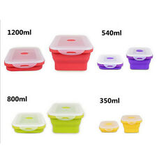 New Silicone Eco Collapsible Lunch Box Portable Folding Food Storage Containers