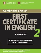 Cambridge First Certificate in English 2 for Updated Exam Student's Book with an