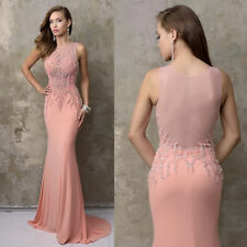 2017 Elegant Beads Crystal Evening Dresses Formal Prom Party Long Gowns Custom