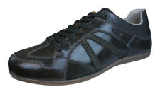 Geox U Houston A Mens Leather Sneakers / Shoes - Dark Brown
