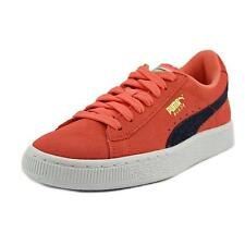 Puma Suede Jr Youth  Round Toe Suede Pink Sneakers