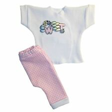 Baby Girl Sweet Pink Gingham 2 Piece Pants Shirt Set - 4 Preemie Newborn Sizes