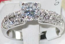 m54908 PB SOLITAIRE WITH ACCENTS  SIMULATED DIAMOND RING  ALL SIZES ENGAGEMENT