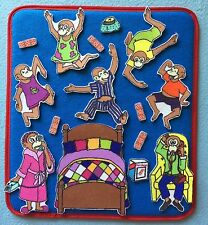 5 Little Monkeys Jumping on the Bed Felt / Flannel Board Set