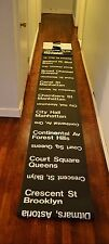NYC Subway IND/BMT Side Destination Roll sign - Full North Terminal Rollsign