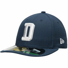 New Men's Dallas Cowboys New Era Navy Low Crown On Field 59FIFTY Fitted Hat Cap