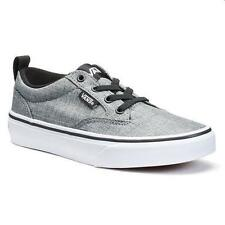 Boy's Youth VANS WINSTON Rock Gray Slip On Athletic Sneakers Skate Shoes NEW