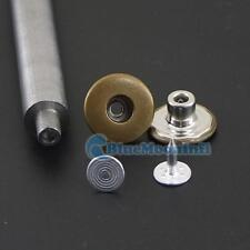 "One tool + 5/8"" 17mm Jean Tack Snap Button Stud Rivet NO-SEW Pants Clothes 20 50"