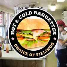 Baguettes Hot/Cold Catering Sign Window Cafe Restaurant Stickers Graphics Decal