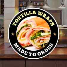 Tortilla Wraps Sandwich Catering Sign Window Restaurant Stickers Graphics Decal