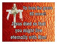 Custom Made T Shirt Up From Grave He Arose Jesus Died Live Eternally With  Him