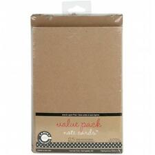 Canvas Corp Value Pack Cards & Envelopes 4 in. x 5.5 in. 25-Pkg-Kraft