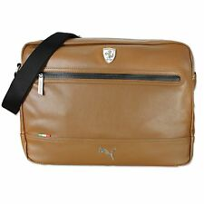 PUMA FERRARI CAMPUS REPORTER BAG MESSENGER BAG SHOULDER BAG COGNAC BROWN