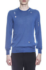 Alexander McQueen MCQ Sweater Pullover % Made Italy Man Blues 455963Q1RNX4201-