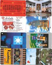 Singapore - 8 Different GPT Type Proof Phonecards With No Control Numbers Lot 1