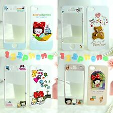 FULL FRONT + BACK CUTE 3D STEREO BEAR BOWKNOT HARD COVER CASE FOR IPHONE 4/ 4S