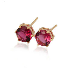 Fashion Delicate 18K Yellow Gold Plated Colorful clear crystal Stud Earrings