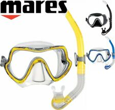Mares Snorkel Set Combo - Silicone Wide View Mask and Purge Valve Snorkel