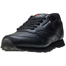 Reebok Classic Leather Kids Trainers Black New Shoes