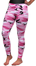Womens Camo Pink Camouflage Military Spandex Leggings Rothco 3188