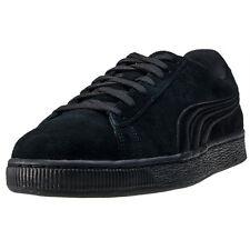 Puma Suede Classic Badge Mens Trainers Black Black New Shoes