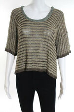 Rag And Bone Brown Beige Gray Striped Crew Neck Sweater Size Small