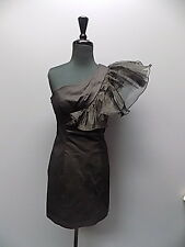 MARK AND JAMES BADGLEY MISCHKA Black Accent Shoulder Dress Sz 4 1316A