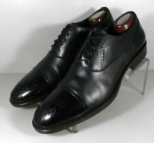 241725 FTi60 Men's Shoes Size 9 M Black Leather Made in Italy Johnston Murphy